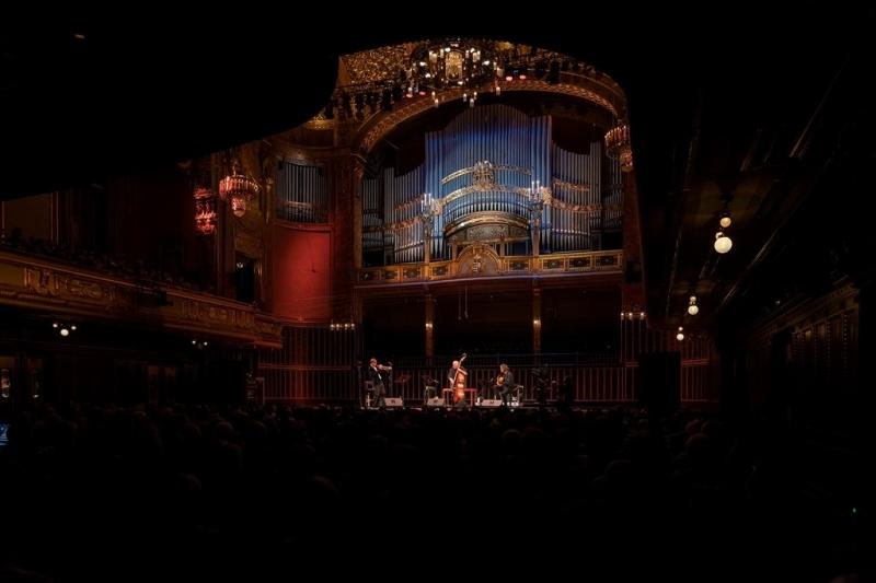 Budapest   Liszt Academy   Oct. 19 with Arild Andersen & Markus Stockhausen - Snétberger Stockhausen Andersen © Liszt Academy János Postós