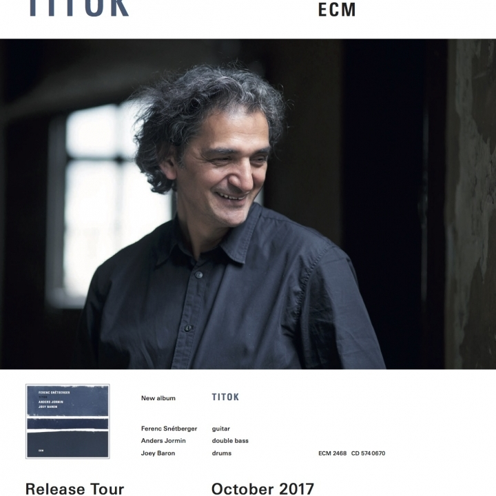 SNÉTBERGER TRIO |  TITOK | CD RELEASE TOUR | OCTOBER 2017